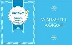 background kosong undangan aqiqah word background kosong undangan aqiqah warna biru kartu