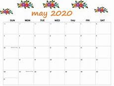 Printable May 2020 Calendar With Holidays May 2020 Calendar Printable Free Printable Calendar