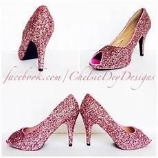 Light Pink Sparkly Heels Glitter High Heels Light Baby Pink Open Peep Toe Pump