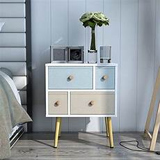 lifewit nightstand with 4 fabric drawers bedroom side