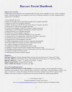 Simple Daycare Contract Best Impeccable Printable Daycare Forms Jeettp