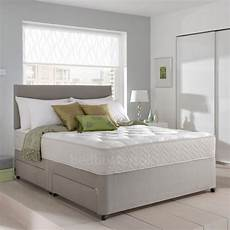 memory foam divan bed set with mattress and headboard 3ft