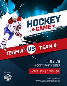 Hockey Flyer Template Hockey Game Flyer Poster Template Postermywall