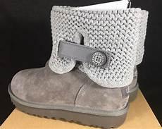 ugg australia s shaina grey gray knit boots new