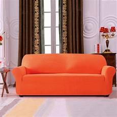 subrtex 1 spandex stretch slipcover sofa orange