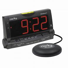 assure vibrating alarm clock with bed by