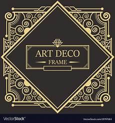 Art Deco Vector Art Deco Border Frame Royalty Free Vector Image