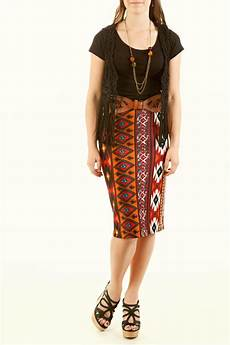 Aztec Design Skirts Az Design Aztec Pencil Skirt From Idaho By Style Unlimited