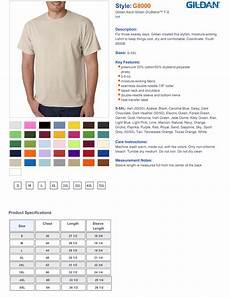 Gildan Youth Medium Size Chart Gildan 50 50 T Shirts Dryblend Short Sleeve 8000 True To