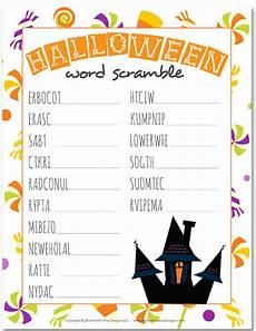 Halloween Themed Words Halloween Word Scramble Fun Free Printable Activity For
