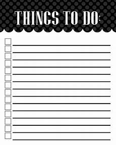Things To Do Template Printable Free Printable To Do List Templates Latest Calendar