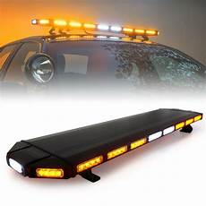 Led Light Bar For Truck Roof Xprite 48 Quot Black Hawk Amber Led Security Warning Roof Top