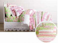 lilly pulitzer parade bedding look green colour