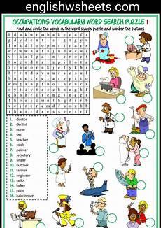 Job Search Activities Jobs Esl Printable Vocabulary Worksheets Profissoes Em