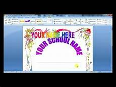 Good Front Page Design How To Design Front Page Of Project In Microsoft Office
