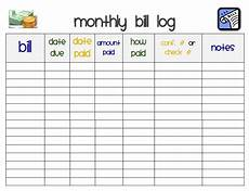 Monthly Bills List I Heart Crafting How To Create A Home Management Binder