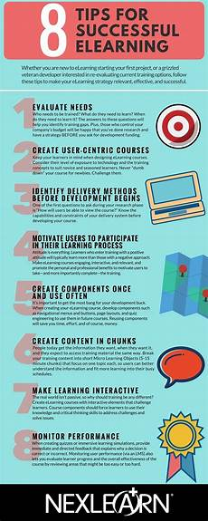 8 tips for successful elearning infographic e learning