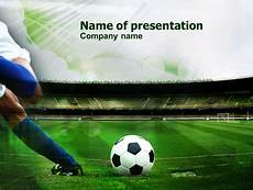 Football Powerpoint Template A Kick In Soccer Free Presentation Template For Google