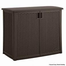 suncast 97 gal resin outdoor patio cabinet bmoc4100 the