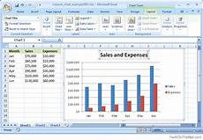 Column Chart Excel Ms Excel 2007 How To Create A Column Chart