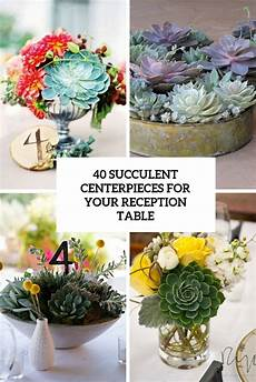 picture of succulent centerpieces for your reception table