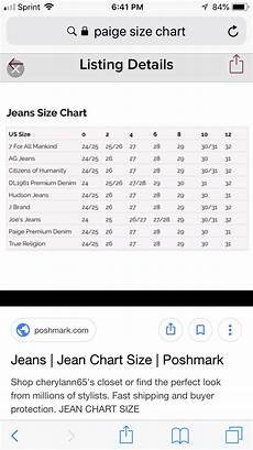 Citizens Jeans Size Chart Pin By On Wear It Jeans Size Chart 7 For All