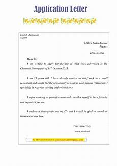Application Letter Template Sample Text Sample Application Letter