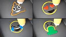 Easy Emoji Art Emoji Pancake Art Heart Eyes Tear Face Vomit