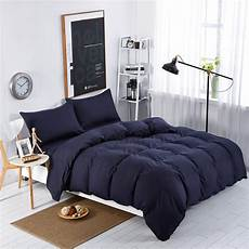 home textiles navy blue solid color bedding sets bedspread