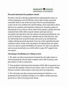 Personal Statement For Graduate School Examples Professional Help With Graduate School Personal Statement