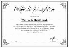 Training Certificate Of Completion Training Completion Certificate Template With Images