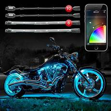 Led Light Kits For Motorcycles Xkglow 10 Pod 8 Xkchrome Smartphone Motorcycle