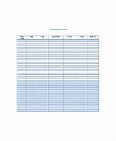Excel Log Sheet Template Log Sheet Template 23 Free Word Excel Pdf Documents