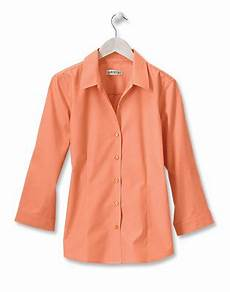 3 quarter sleeve shirts untucked fitted button front cotton shirt wrinkle free three