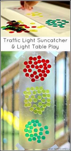 Light Theme Preschool Traffic Light Suncatcher Amp Light Table Play Light