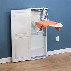 iron n fold floor standing cabinet ironing board white