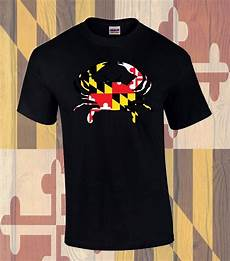 Crab T Shirt Designs Md Flag Crab Front Design T Shirt