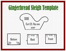 Gingerbread Cookie Template Gingerbread Sleigh Tutorial And Template