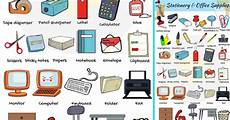 List Office Equipment Office Supplies List Of Stationery Items With Pictures