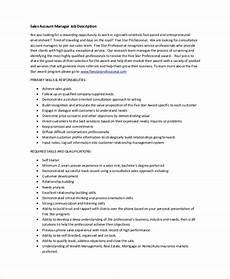 Account Manager Job Description Sample Free 7 Sample Account Manager Job Description Templates
