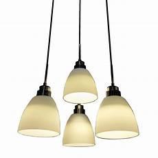 Hanging Led Lights 4 Light Led Hanging Pendant Lamp In White Shade L
