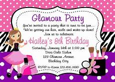 Birthday Invitations Girls Printable Birthday Invitations Girls Glamor Beauty Party