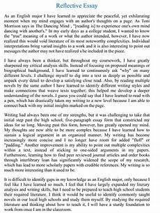 Personal Reflection Essay Example Steps In Reflective Essay Writing Social Sci 11