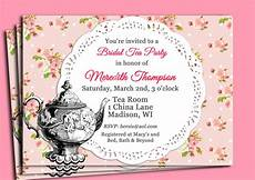 Tea Party Photo Invitations Vintage Tea Party Invitation Printable Or Printed With Free