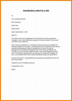 Introduction Letters For Jobs 8 Self Introduction Letter For Job Introduction Letter