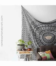 elephants floral mandalas tapestry walldecor