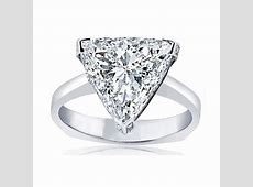 Designer Signature Style Trilliant Diamond Engagement Ring