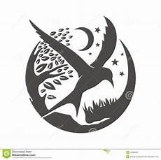 Moon And Stars Design Bird Tree Star And Moon Stock Illustration Illustration