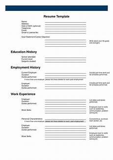 Printable Sample Resume Templates Printable Free Printable Resume Templates Free