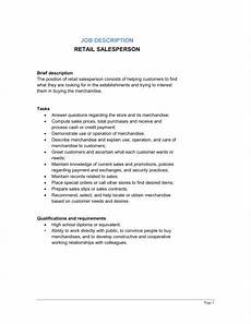Retail Worker Job Description Retail Salesperson Job Description Template Amp Sample